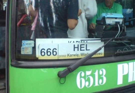 Polish Christian group complains about bus 666 to Hel (Picture: Facebook)
