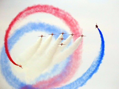 Show goes on for Red Arrows at risk of losing home in RAF budget cuts