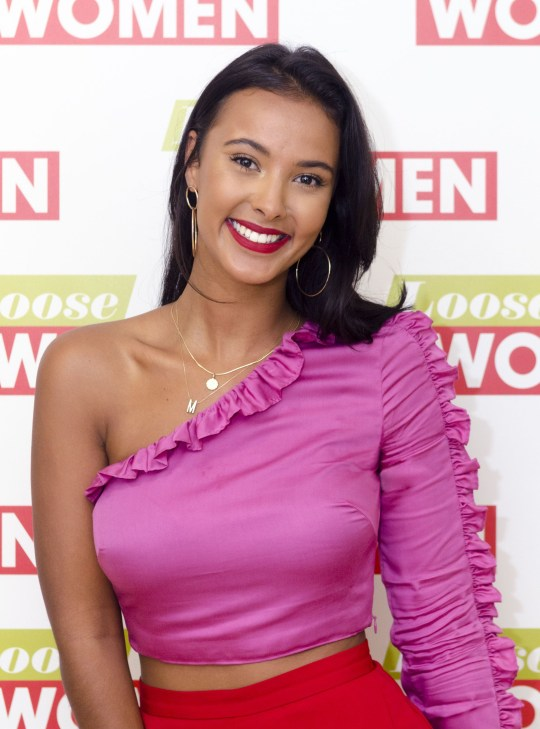 EDITORIAL USE ONLY. NO MERCHANDISING Mandatory Credit: Photo by S Meddle/ITV/REX/Shutterstock (9015704dn) Maya Jama 'Loose Women' TV show, London, UK - 22 Aug 2017