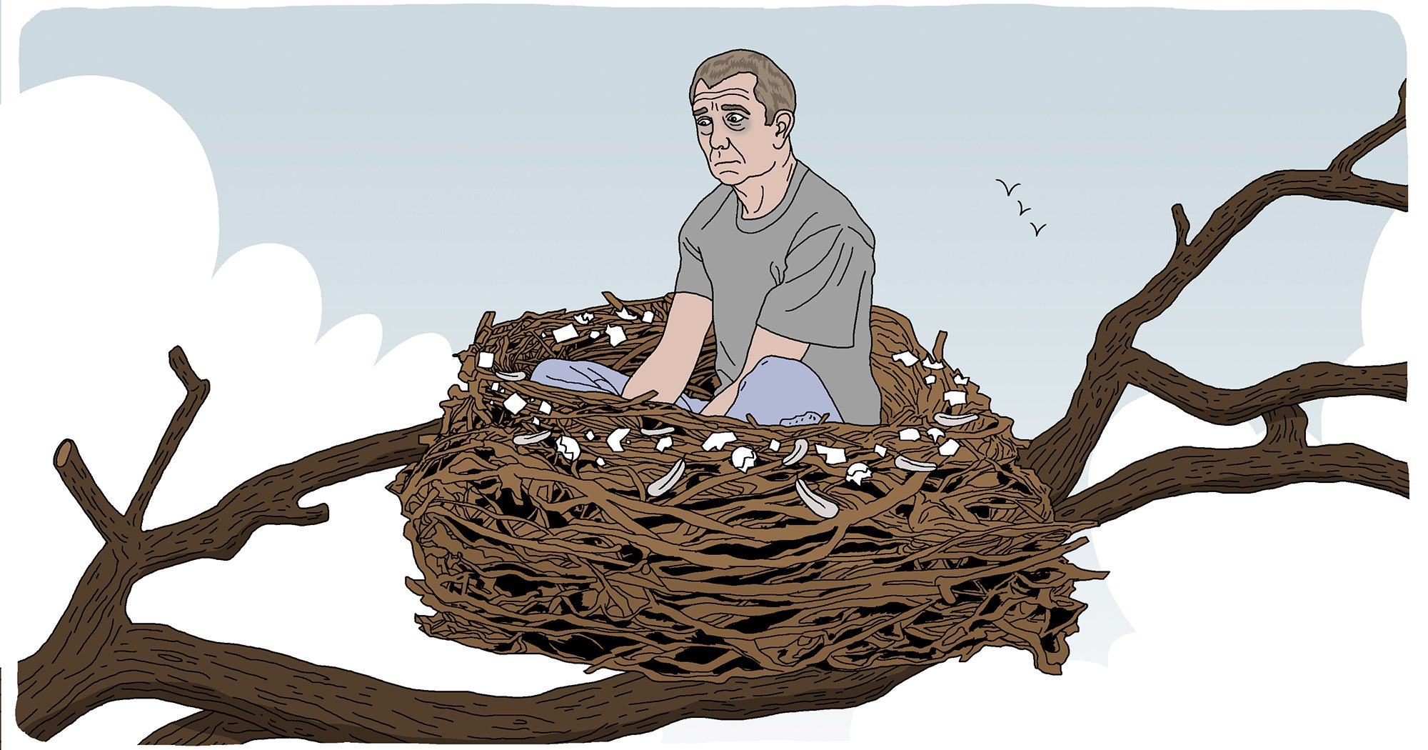 Yes, dads can experience empty nest syndrome too Dads nest baby children parent parenting family Dave Anderson for Metro.co.uk
