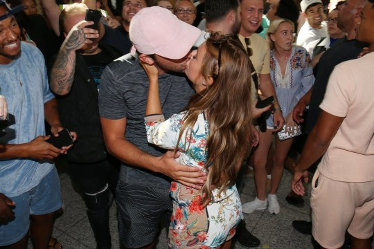 Mandatory Credit: Photo by Beretta/Sims/REX/Shutterstock (9774849ai) Dani Dyer and Jack Fincham arrive back at Stansted Airport Love Island contestants arrive at Stansted Airport, London, UK - 31 Jul 2018