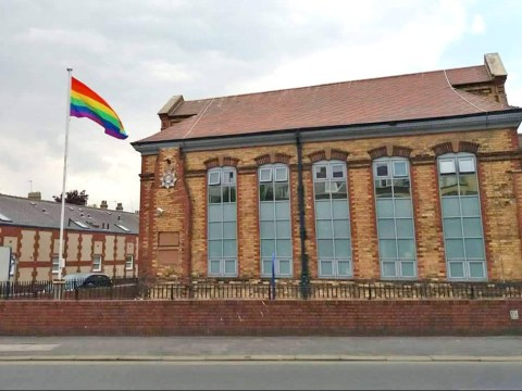 Homophobes vandalise Pride flag saying same sex couples are 'perverted'