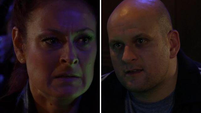 Stuart traumatises Tina in EastEnders