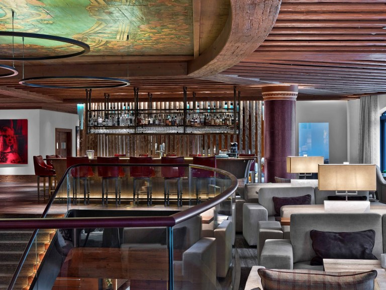 The bar at The Alpina Gstaad (Picture: The Alpina Gstaad)