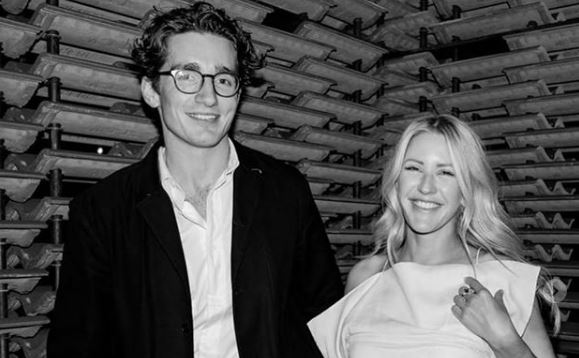 Ellie Goulding is engaged to Caspar Jopling as couple announce news in The Times