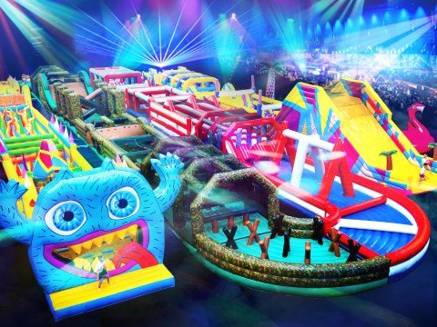 Quit your job and get paid to jump around on an inflatable obstacle course instead