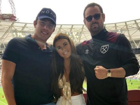 Love Island's Jack Fincham bonds with father-in-law Danny Dyer at West Ham football game