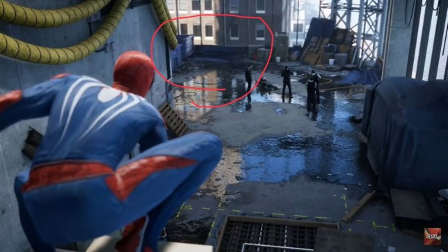 Spider-Man and the case of the missing puddle