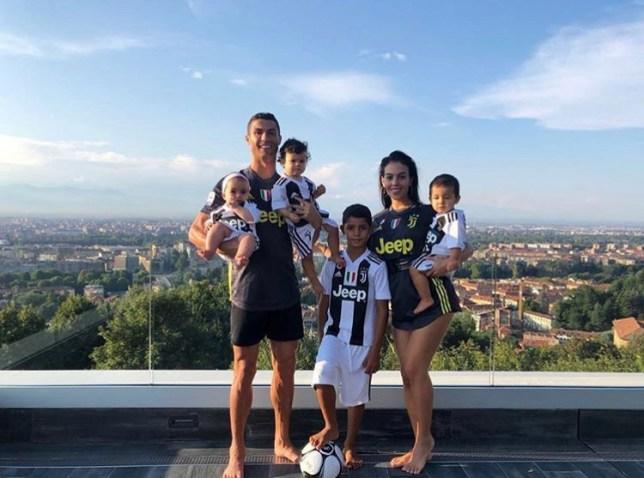the latest 9d407 21aa8 Cristiano Ronaldo and his children wear matching Juventus ...
