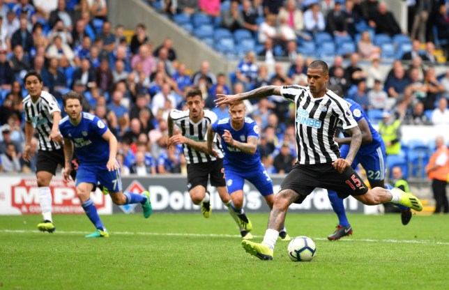 4e588e01bb6 Kenedy mocked after nightmare Newcastle United performance against Cardiff