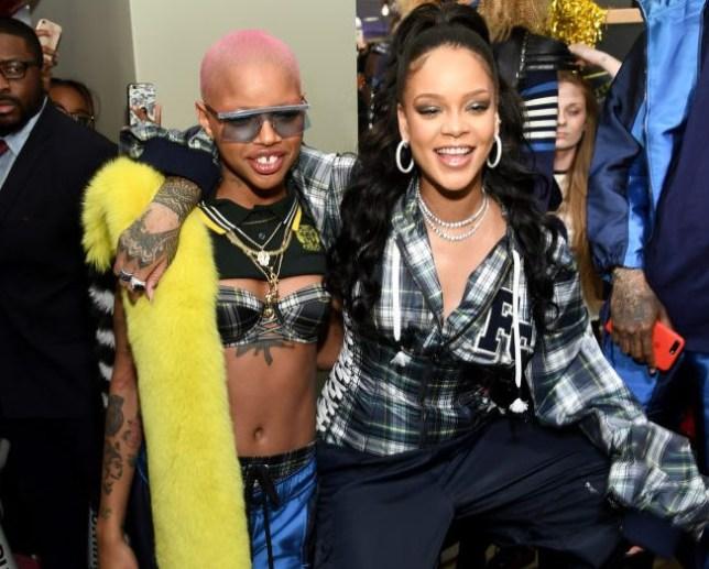 Slick Woods and Rihanna