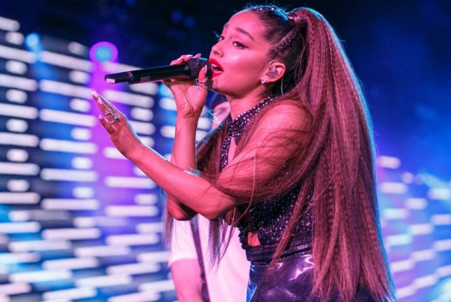Ariana Grande performs in Los Angeles