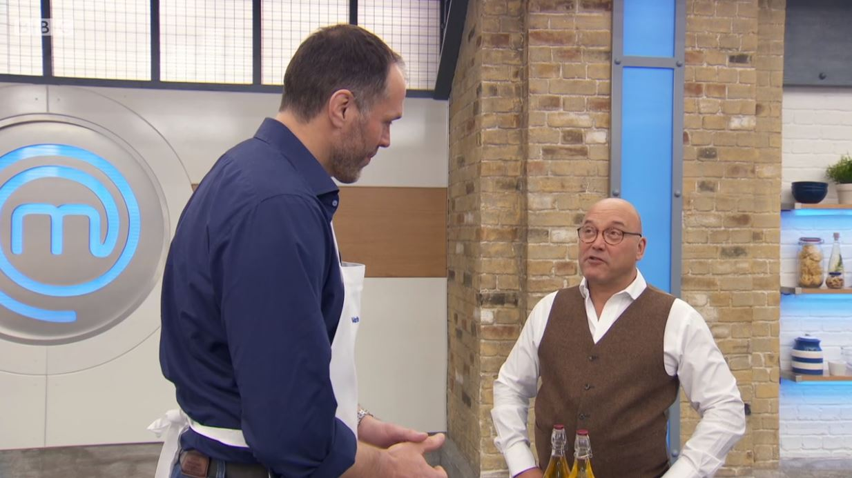 Celebrity MasterChef fans can't get over Gregg Wallace stood next to massive rugby player Martin Bayfield