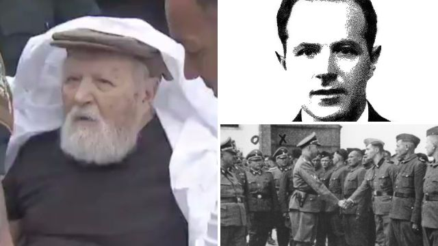 'Nazi concentration camp guard', 95, filmed being deported from US to Germany