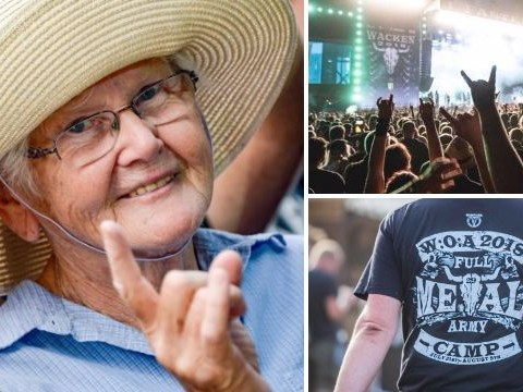 Elderly men leave their nursing home to go to world's biggest metal festival