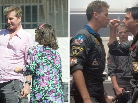 Val Kilmer looks happy and healthy on family lunch date as Top Gun 2 release is pushed back by a year