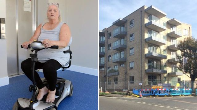 Disabled pensioner stuck in second-floor flat because it's 'too hot' to fix lifts