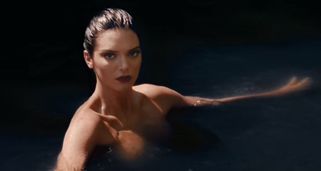 Kendall Jenner floats topless in the Hampstead ponds for Love magazine