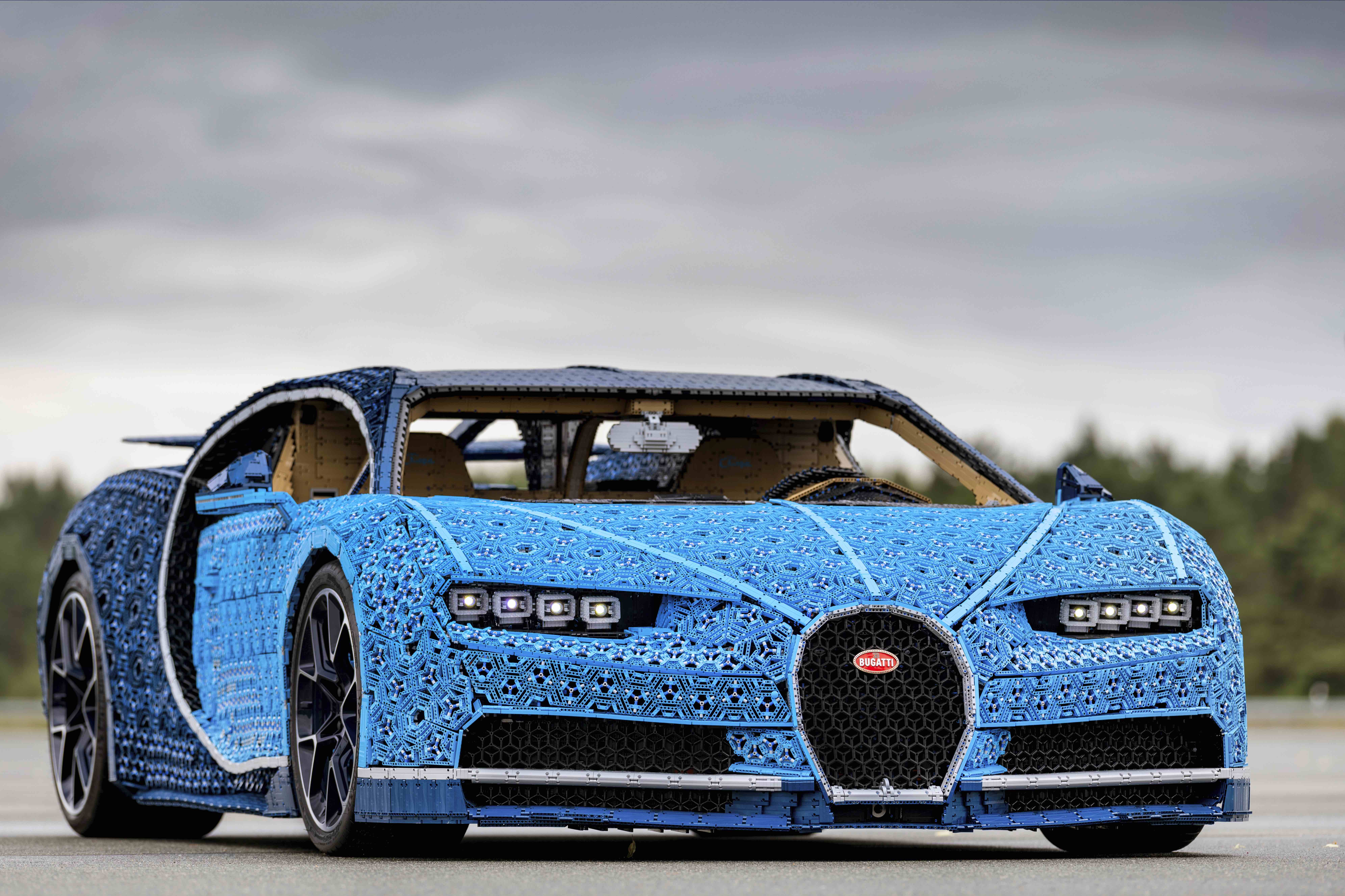Lego has made a full-size working Bugatti Chiron that goes 12mph