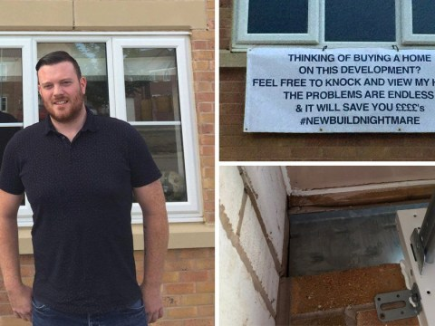 Disgruntled home owner sticks up sign to warn off potential buyers