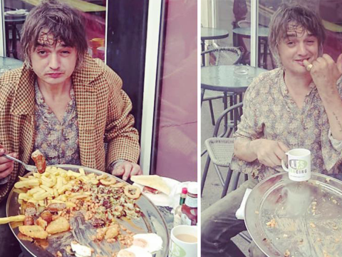 Pete Doherty smashes epic breakfast challenge at Margate cafe, so he gets the meal for free
