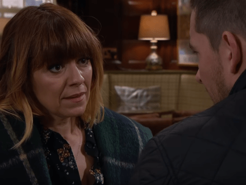 Emmerdale spoilers: Rhona Goskirk and Pete Barton in danger from a mystery intruder