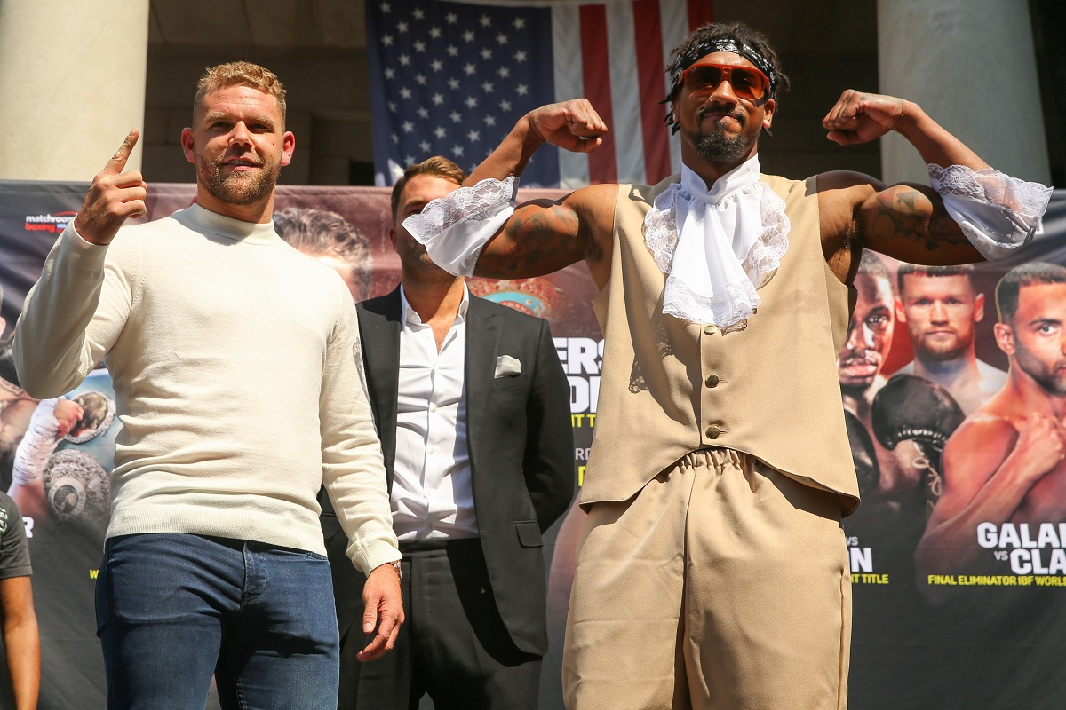 Saunders v Andrade (Picture: Matchroom Boxing)