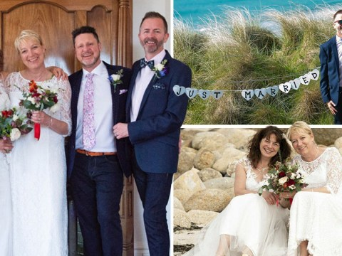 Gay best friends who posed as straight couple in RAF finally marry real partners
