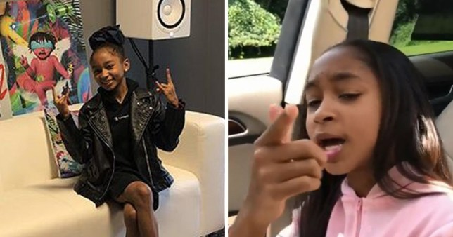 Lay Lay,11, is youngest female rapper to sign a record deal