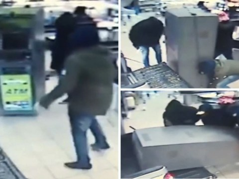 Robbers drive truck into supermarket and steal ATM