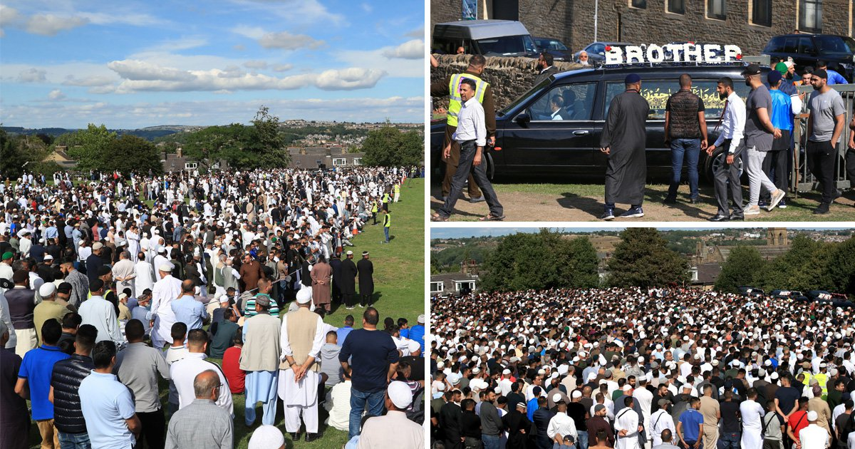 10,000 mourners gather for funerals of four men killed in police chase