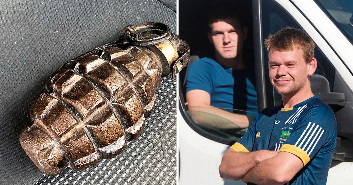 Two men played catch with a live hand grenade thinking it was fake