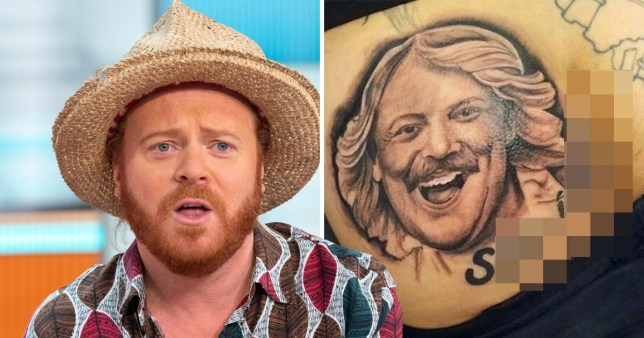 Keith Lemon fan gets huge tattoo of comedian's face on their