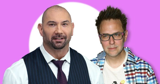 Guardians of the Galaxy's Dave Bautista and James Gunn