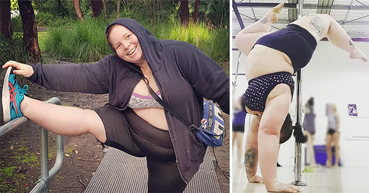 Plus-size pole dancer hits back at online trolls who called her a 'pig'