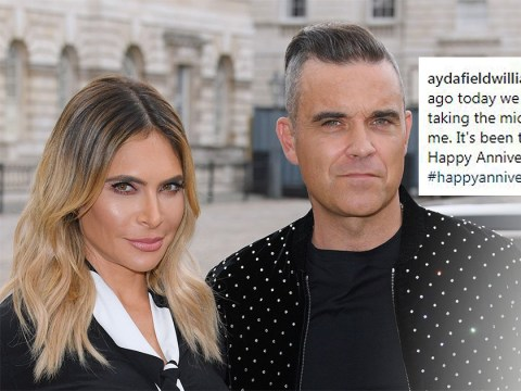 Ayda Field thanks hubby Robbie Williams for 'journey of a lifetime' as couple celebrate wedding anniversary