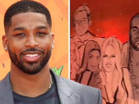 Kylie Jenner birthday family mural includes Scott Disick but not Tristan Thompson