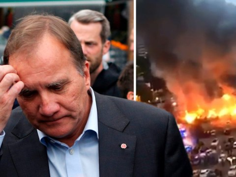 Swedish prime minister asks 'what the f*** are you doing?' after vandals fire-bombed cars