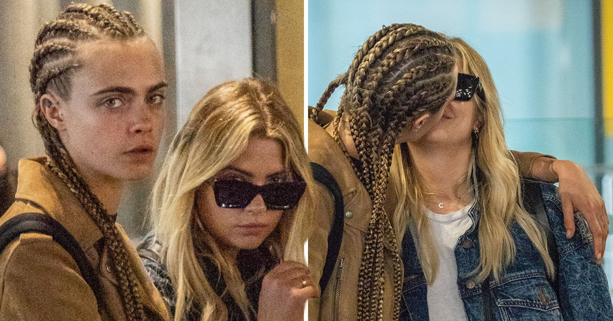Cara Delevingne and Ashley Benson confirm romance rumours as they share kiss in airport taxi queue