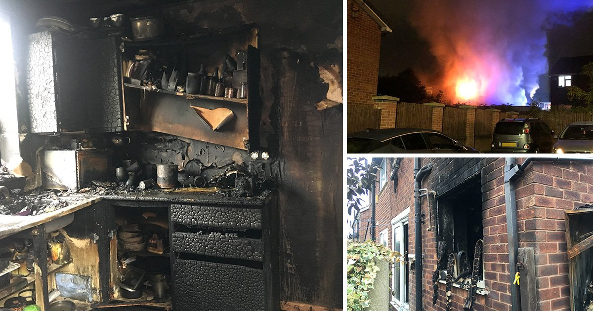 Man had to choose whether to save wife or dog from burning house
