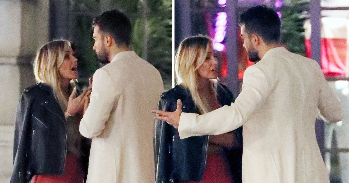 Love Island's Laura and Paul suffer trouble in paradise as they appear in heated argument on night out