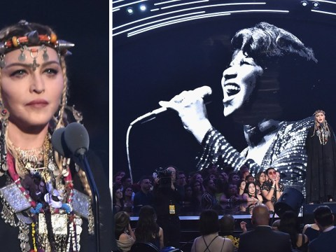 Madonna manages to make Aretha Franklin tribute at MTV VMAs all about herself and viewers are fuming