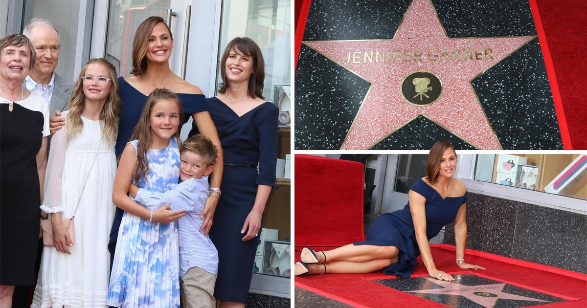 Jennifer Garner is all smiles as she makes rare appearance with her three children at Hollywood Walk of Fame ceremony