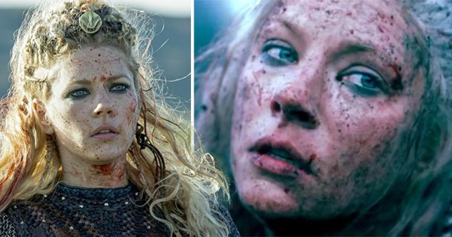 Katheryn Winnick has solved the mystery over Lagertha's fate (Picture: A&E; Katheryn Winnick/Instagram)