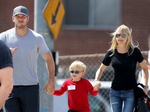 Chris Pratt and Anna Faris are still on good terms as they take a stroll a year after split