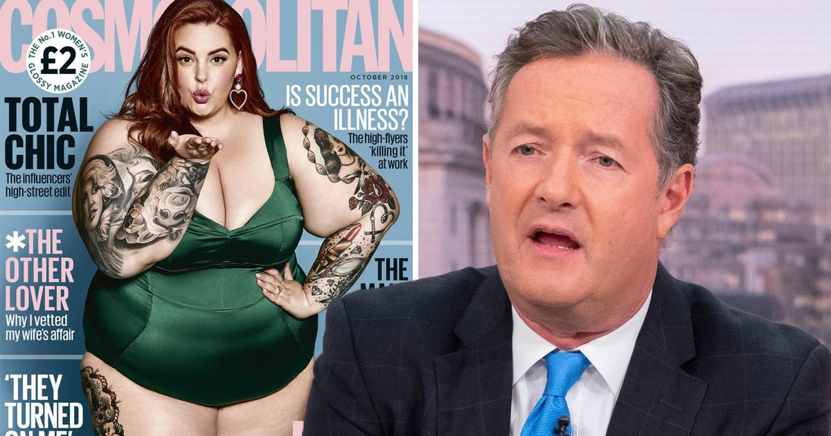 Piers Morgan reignites feud with 'morbidly obese' Tess Holliday: 'You're going to die'