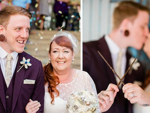 Couple have stunning Harry Potter themed wedding