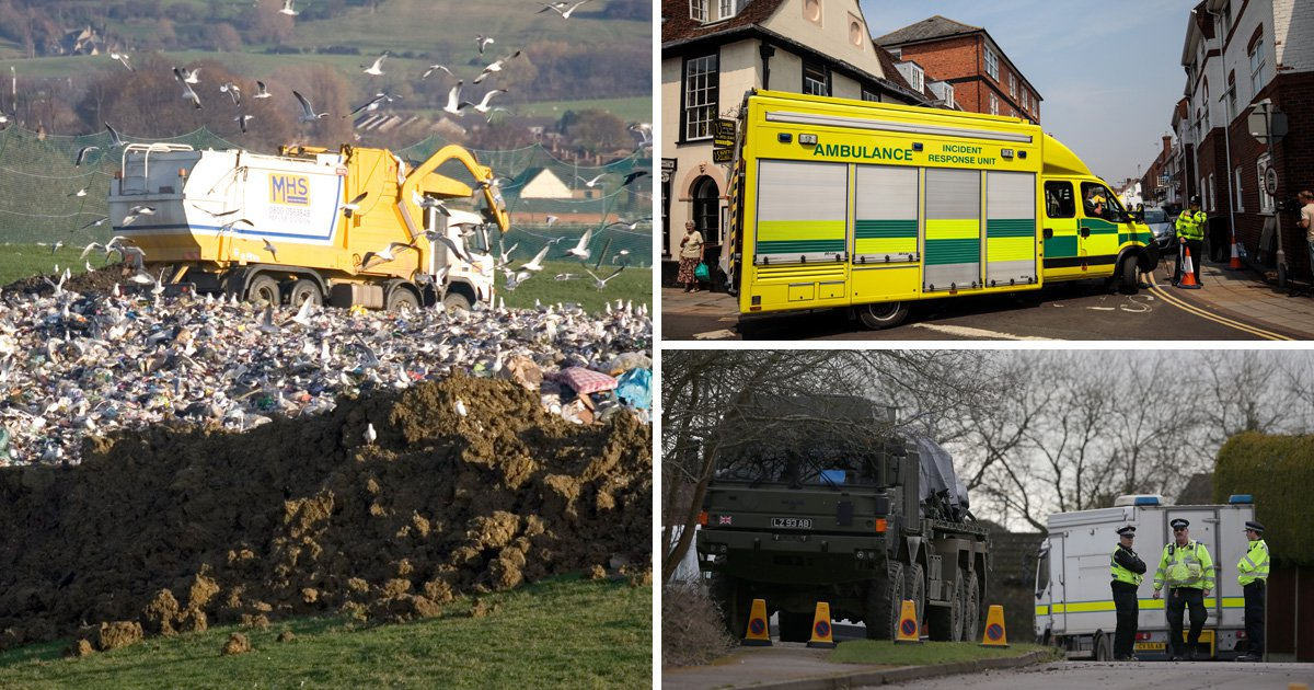 Ambulances and police cars used in Novichok poisoning to go to landfill