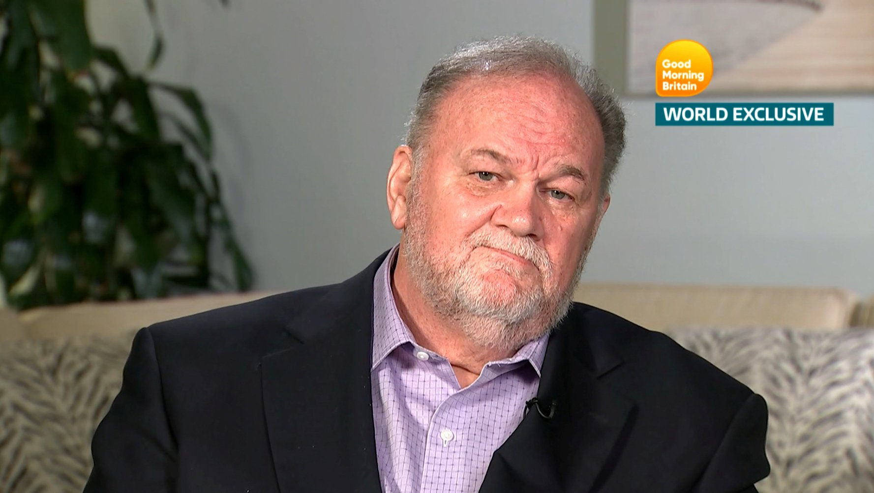 Thomas Markle, Meghan Markle's father, is seen in a still taken from video as he gives an interview to ITV's Good Morning Britain program which is broadcast from London, Britain, June 18, 2018. Good Morning Britain/ITV handout via REUTERS MUST NOT OBSTRUCT LOGOS/ NO ARCHIVE/ NO RESALE/ NO NEW USES AFTER 0900GMT ON JUNE 19, 2018 NOT FOR SALE FOR MARKETING OR ADVERTISING CAMPAIGNS THIS IMAGE HAS BEEN SUPPLIED BY A THIRD PARTY. IT IS DISTRIBUTED, EXACTLY AS RECEIVED BY REUTERS, AS A SERVICE TO CLIENTS