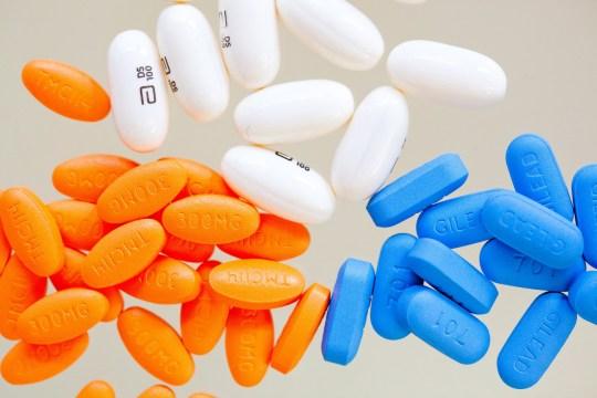 Mandatory Credit: Photo by Garo/Phanie/REX/Shutterstock (1042052n) Aids triple therapy treatment : Prezista (darunavir) Norvir (ritonavir) and Truvada (entricitabine tenofovir disoproxil). Various